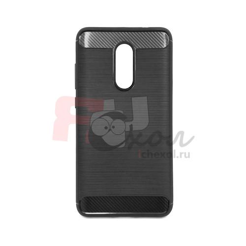 Чехол для Xiaomi Redmi Note 4X из ТПУ стилизованный под карбон черный