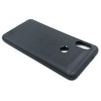 """Чехол для Xiaomi Redmi Note 5 из ТПУ-резины """"под карбон"""" черный"""