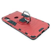 Гибридный бампер Xiaomi Redmi Note 5  (5,99'') из ТПУ и пластика с кольцом-подставкой красный