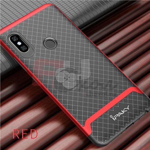 Гибридный двухкомпонентный чехол-бампер для Xiaomi Redmi Note 5  (5,99'') из ТПУ-резины и пластиковой рамкой  красный
