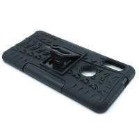 Чехол для Xiaomi Redmi Note 5 из ТПУ-резины и пластика противоударный черный