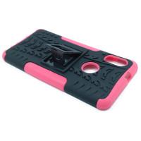 Чехол для Xiaomi Redmi Note 5 из ТПУ-резины и пластика противоударный розовый