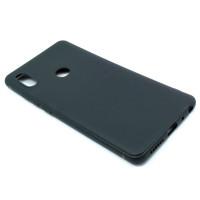 Чехол для Xiaomi Redmi Note 5 из ТПУ-резины матовый черный