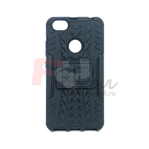 Чехол для Xiaomi Redmi Note 5A Prime из ТПУ и пластика противоударный черный