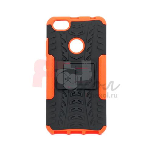 Чехол для Xiaomi Redmi Note 5A Prime из ТПУ и пластика противоударный оранжевый