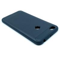 "Чехол для Xiaomi Redmi Note 5A Prime из ТПУ-резины ""под карбон"" navy blue"