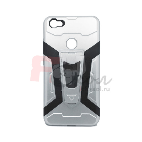 Чехол для Xiaomi Redmi Note 5A Prime из ТПУ и пластика Ironman (Железный человек) серебро