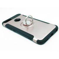 Чехол для Xiaomi Mi 5X / Mi A1 из ТПУ и пластика с кольцом розовое золото