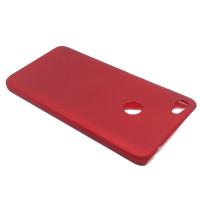Чехол-накладка для Xiaomi Redmi Note 5A Prime из прорезиненного пластика красный