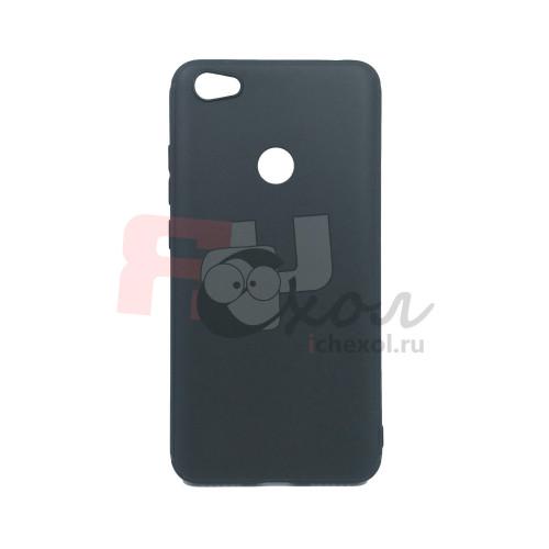 Чехол для Xiaomi Redmi Note 5A Prime из ТПУ-резины матовый черный