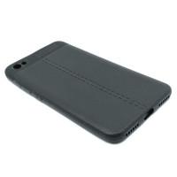 """Чехол для Xiaomi Redmi Note 5A Standart из ТПУ с текстурой """"под кожу"""" черный"""