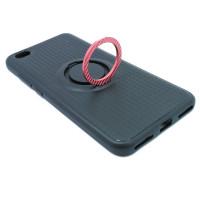 Чехол для Xiaomi Redmi Note 5A Standart с пластиковым розовым кольцом и металлической пластиной