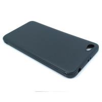 Чехол для Xiaomi Redmi Note 5A Standart из ТПУ-резины матовый черный
