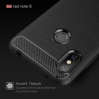 """Чехол-бампер для Xiaomi Redmi Note 6 pro  (6,25'') из ТПУ-резины """"карбон"""" черный"""