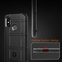 Чехол-бампер для Xiaomi Redmi Note 6 pro  (6,25'') из ТПУ-резины Rugged Shield черный
