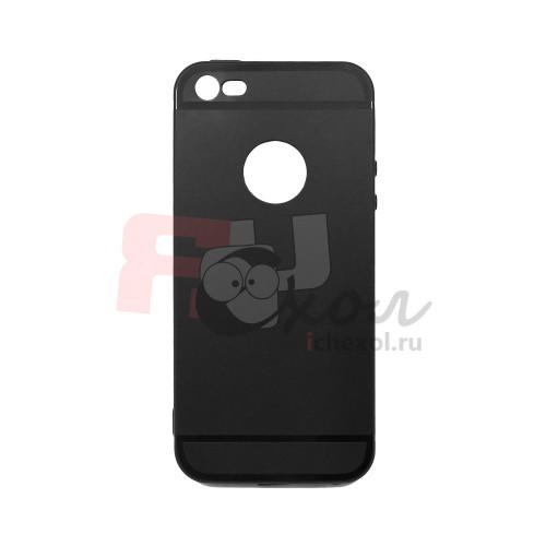 Чехол для iPhone 5/5S/SE (ТПУ) тонкий матовый черный