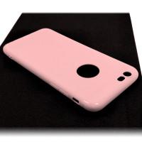 Чехол для iPhone 6/6S (ТПУ) тонкий матовый розовый