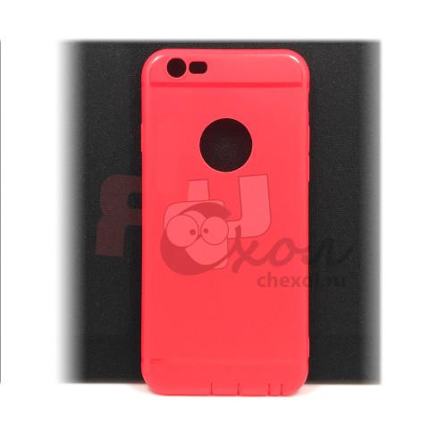Чехол для iPhone 6/6S (ТПУ) тонкий матовый красный