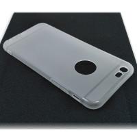 Чехол для iPhone 6/6S (ТПУ) тонкий матовый белый полупрозрачный