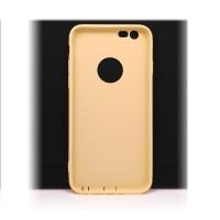 Чехол для iPhone 6/6S (ТПУ) тонкий матовый желтый