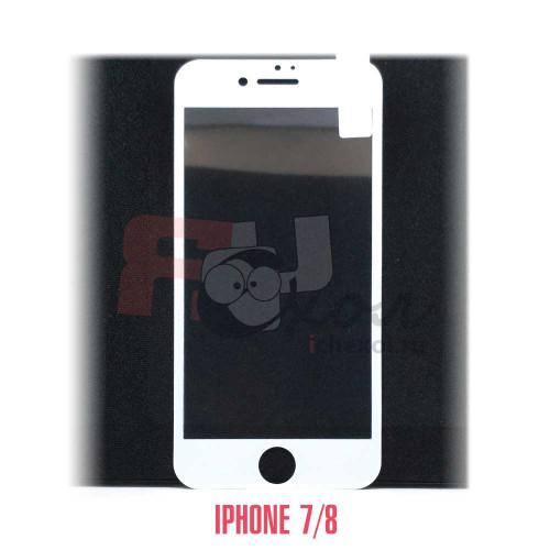 Закаленное защитное стекло для iPhone 7/8 с белой рамкой